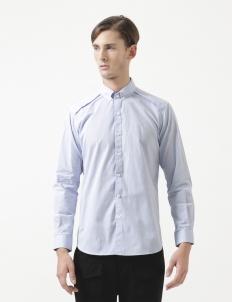Blue Raglan Layer Long Sleeve Shirt