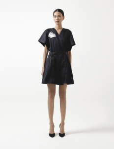 Black Hiro Shirt Dress