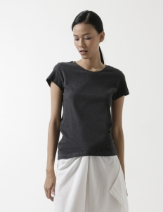 Woman Melange Crew Neck-T-Shirt