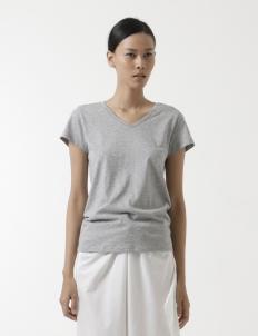 Woman Melange V-Neck T-Shirt