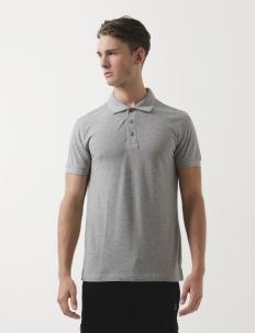 Man Melange Polo Shirt