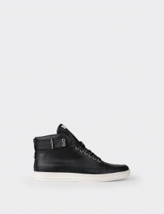 Black Perforated High Top Sneakers
