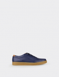 Navy 7PM Low Top Sneakers