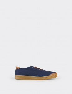 Navy Tan 6AM Low Top Sneakers