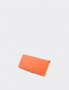 Meredith Tangerine Long Wallet