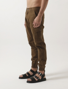 Brown Jogger Canvas Pants