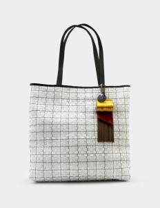 Timea Leather Charcoal