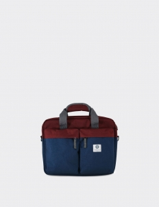 Maroon - Navy Brief Laptop Bag