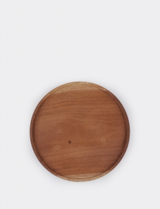 Rounded Wooden Tray