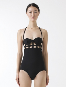 Larache Black One Piece Swimsuit