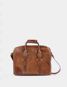 Anak Krakatau Leather Briefcase