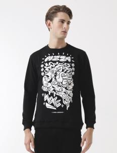 WXG x Laro Lagost Black Crewneck Sweater