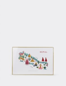 Nepal Map Poster