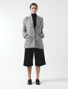 Brooklyn Wide-Shoulder Coat Jacket