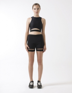 Racerback Top with Elastic Waistband Detailing