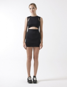 Mini Sports Dress with Cut-out Detail
