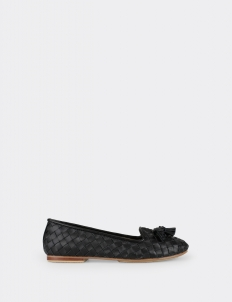 Black Mellissa Wicker Tessel Shoes