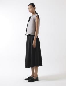 Black Full Knee Length Skirt