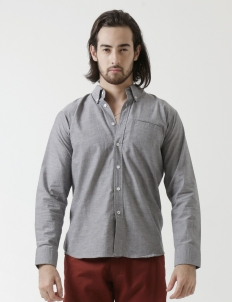 Nep Chambray Button Down Long - Sleeved Shirt