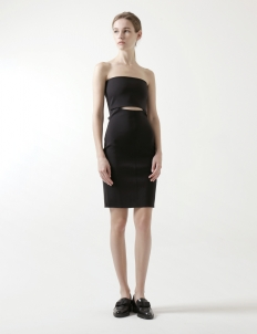 Strapless Dress with Cut-out Detail
