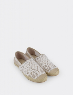 Penara Embroidery Espadrilles With Pearl Details