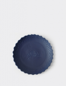 Cobalt Blue Ruma Manis Dahlia Summer Large Plate