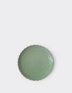 Dusty Green Ruma Manis Dahlia Summer Medium Plate