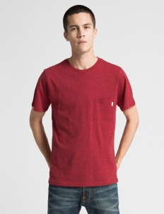 Deep Red Randall Boucle T-Shirt