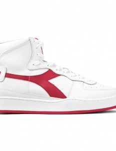 White/Ferrari Red Italy Mi Basket Shoes