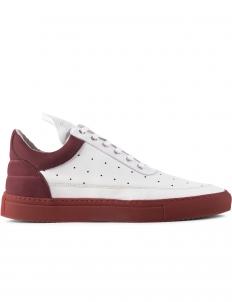 Burgundy Messey Low Top Sneakers