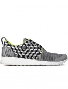 Grey/Green Derby Cubo Running Sneakers