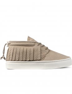 Natural Croc Leather The One-o-one Mid Top Sneakers