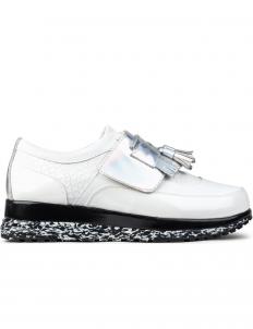 White Taseel Platform Sneakers