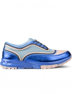 Blue Tip Mesh Metallic Sneakers