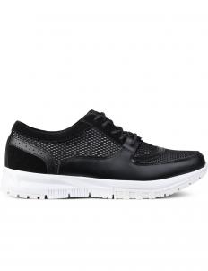 Black Mesh Sneakers