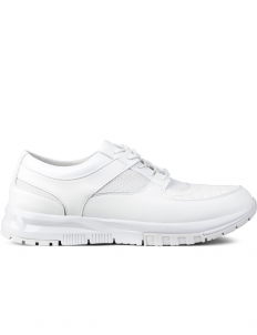 White Emboss Croc Sneakers