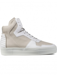 White Neptune Lamb Calf High Top Sneakers