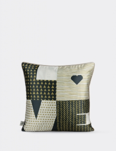 Love Black Gold Cushion Cover