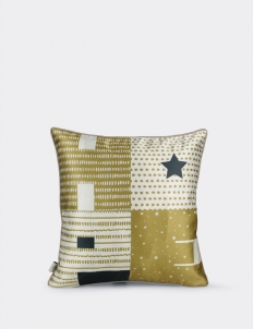 Hope Black Gold Cushion Cover