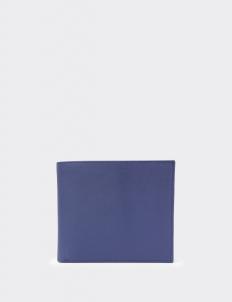Signature Navy Blue & Tan Bi-Fold Wallet
