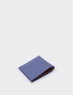 Signature Navy Blue & Teak Brown Bi-Fold Wallet