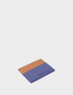 Up Down Tan & Navy Blue Card Holder