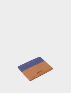 Up Down Navy Blue & Tan Card Holder