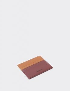 Up Down Tan & Teak Brown Card Holder
