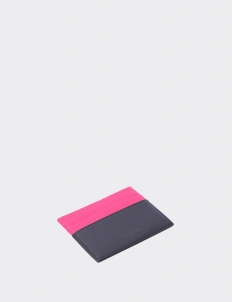 Up Down Bright Pink & Royal Black Card Holder