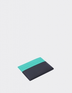 Up Down Turquoise & Royal Black Card Holder