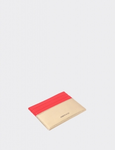 Up Down Mars Red & Gold Card Holder