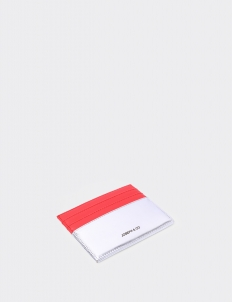 Up Down Mars Red & Silver Card Holder