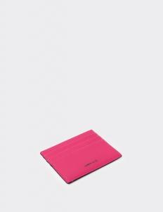 Reversible Bright Pink & Royal Black Card Holder