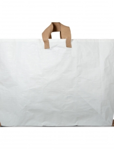 White Vinyl Tote Bag